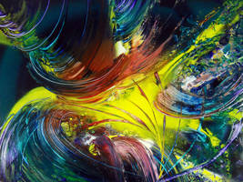 Spray paint abstract on cardboard - Energiz by Airgone