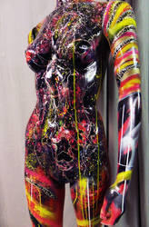 Spray paint  on recycled mannequin by Airgone