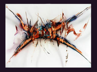 Spray paint abstract on cardboard - Distorsion by Airgone