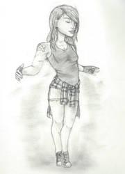 Creepypasta oc Olivia (sketch) by FNafTMNTcp4