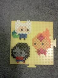 Perler bead Adventure Time by HarukoElric