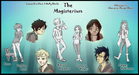 The Magisterium - Character Design Sheet by whitespirit