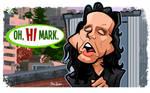 Oh Hi Mark. Tommy Wiseau Caricature by binarygodcom
