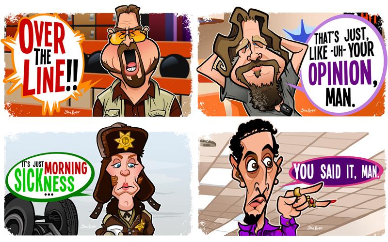 Coen Caricatures (in progress) by binarygodcom
