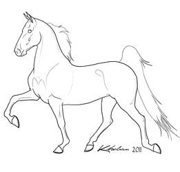 Gaited Horse Lineart by Kholran