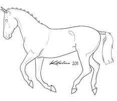 Canter Lineart by Kholran