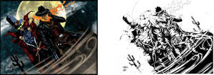 Gunslinger Spawn And Western Ghost Rider. by Highlander0423
