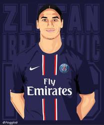 Zlatan Ibrahimovic PSG Vector by fourensix