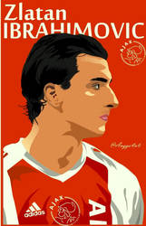 Zlatan Ibrahimovic Ajax Vector by fourensix