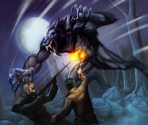 Werewolf-Black fury by Chaos-Draco