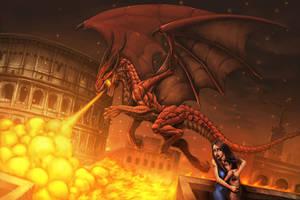 Dragon rampage by Chaos-Draco