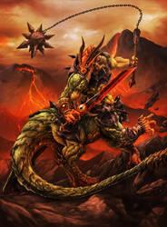 Dragotaur: Earth Colossus by Chaos-Draco