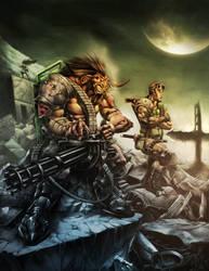 Cyber-punk fantasy by Chaos-Draco