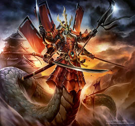 The Naga emperor Mucalinda by Chaos-Draco