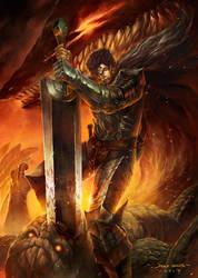 Berserk Black swordsman by Chaos-Draco
