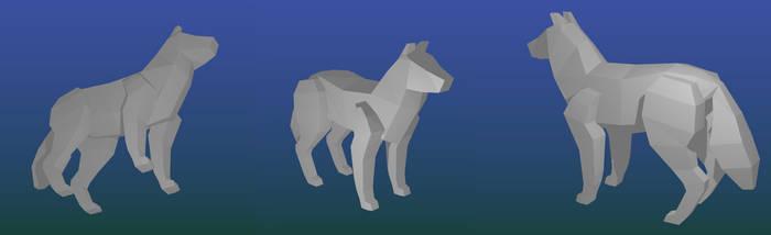 3D Wolf Model by SilverFiredrake