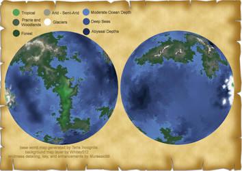 Map of Pretani by Murasaki99