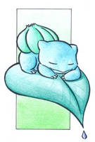 Sleeping Bulbasaur .:colour:. by Fluna