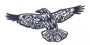 TATTOO - Flying Raven by Fluna