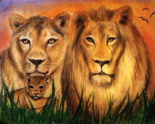 Lion Family by Sylpheah