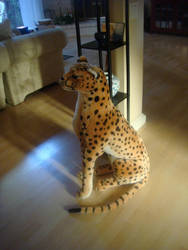My birthday present, a plush cheetah by animagusurreal