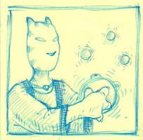 Mystic Feline Alien by qrowdad