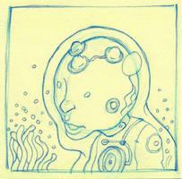 Aqua Alien by qrowdad