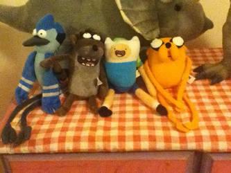 Mordecai,Rigby,Finn and Jake by Koala-Sam