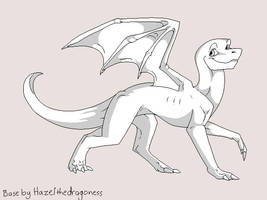 Yet another free dragon base by Hazelthedragoness