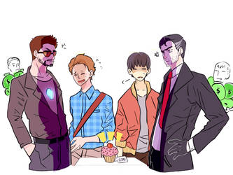 Crossover Iron man and batman by Twinscomics