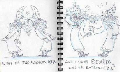 2016 stuff: what if two wizards kiss by Bruneburg
