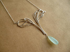Double Peacock Necklace by SparklyShoes