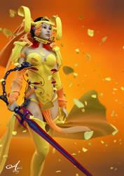 yellow warior by sirorocan