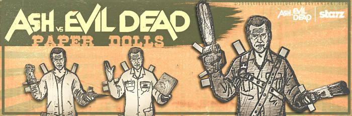 Ash vs Evil Dead Paper Dolls (Banner Artwork) by LeisureSuitLucifer