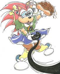 GamingChiliHedgehog (My Commission to Gecko 1993) by GamingChiliHedgehog