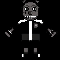 Evil Pig Sprite (Original Beta Design) by GamingChiliHedgehog