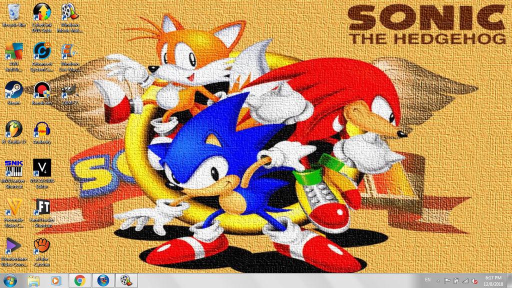 My Desktop Background (Sonic Jam) by GamingChiliHedgehog