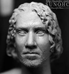 Sayid from Lost head sculpt by sunohc