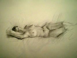 Figure Drawing by Karaul