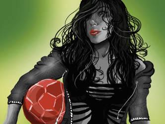 soccer girl by Vuono