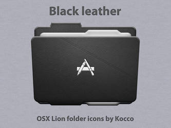 Black leather folder icons by kocco