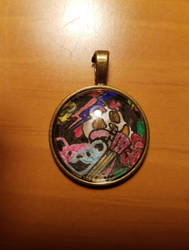 Grateful Dead glass pendant by Jersey-cow