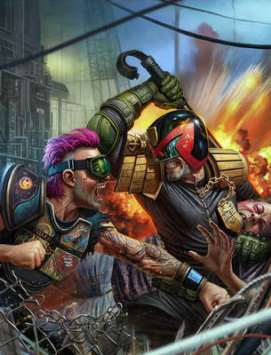 Judge Dredd Megazine #383 by adam-brown