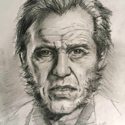 Old man Logan sketch by adam-brown