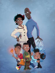 Frozone family by chill13