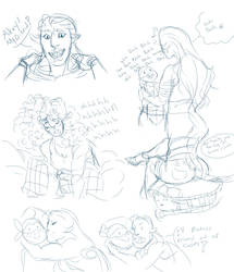 suzanne sketches by Karapeppers