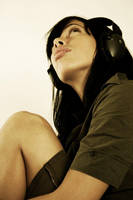 my-music on headphones by ironicalosculos