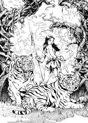 Jungle Queen by kyle-roberts