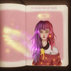 Angel girl - drawthisinyourstyle by LadySeegard