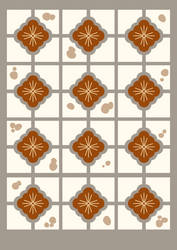 Pattern with Taiwanese Old Building Ceramic Tiles by goescat